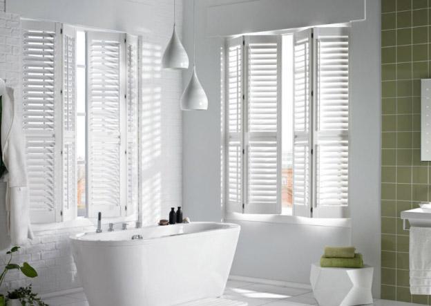 Raamdecoratie shutters van kwaliteit voor badkamer van droomshutters